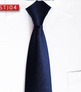 蓝色细条纹真丝领带